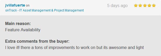 onTrack - IT Asset Management & Project Management - 2