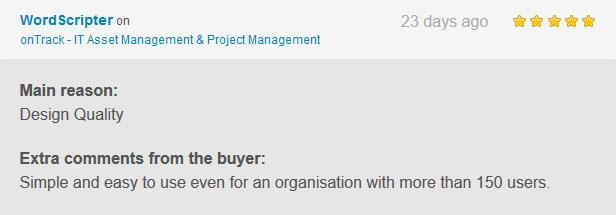 onTrack - IT Asset Management & Project Management - 3
